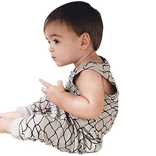 jerferr Softshell Overall Sommer-Säuglings-ärmellose Spielanzug-Overall-Kleidung mit geometrischem Druck Fleece-bib Overalls