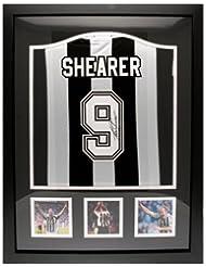 Alan Shearer - Framed Signed Newcastle United F.C Shirt