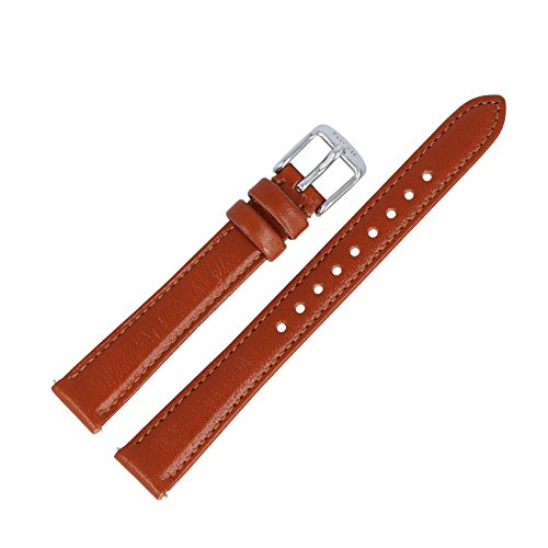 Fossil Uhrenarmband 14mm Leder Braun - Uhrband ES-3842 (Uhr Orange Herren Fossil)