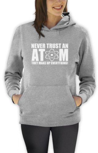 Vertrauen Sie nie einem Atom Frauen Kapuzenpullover Hoodie Grau
