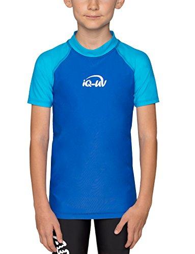 iQ-UV Mädchen UV-Shirt 300 UV-Schutz T-Shirt, Blau (Hawaii-Blue), 140/146 (Herstellergröße: 140/146)