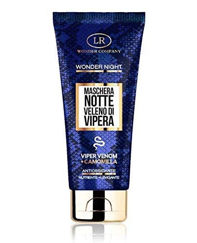 Wonder Night Mask maschera viso specifica per la Notte al Veleno di Vipera e Camomilla, antiage, antiossidante, nutriente, levigante (75 ml) LR Wonder Company