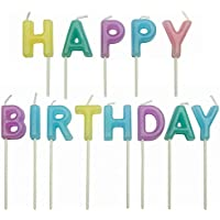 PME Happy Birthday Pastel Candles, Set of 13