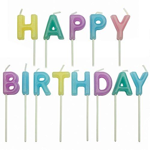 zen mit Geburtstagsgruß, Sortiment, 13-teilig, Kunststoff, Multicolored, 4 x 1.5 x 4 cm ()