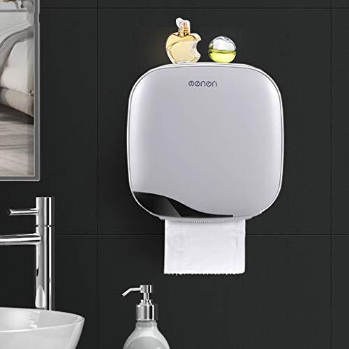 FENSIN Toilettenpapierhalter ohne Bohren Bad Wc wasserdichte Toilettenpapier Box Rollenpapier Halter (Weiß)