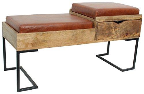 Panca divano in vera pelle wood gusti pelle studio hristo vintage look marrone gl_2w20-63-2