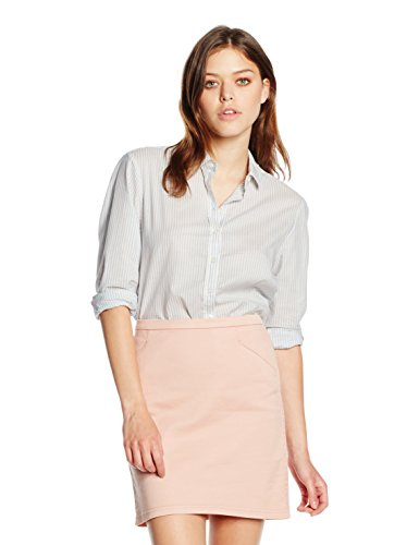 BOSS Orange Damen Bluse Emai_4, Blau (Light/Pastel Blue 450), 36