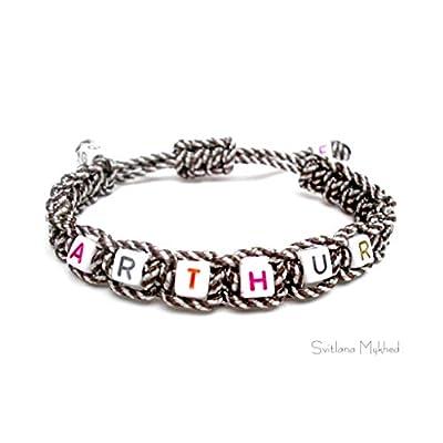 Bracelet à personnaliser avec prénom ARTHUR (réversible, personnalisable) homme, femme, enfant, bébé, nouveau-né; fabrication sur mesure