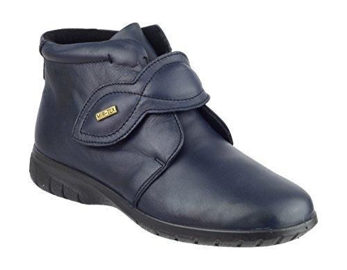 Cotswold Tew da donna, in pelle, colore: Nero, impermeabile, chiusura a stivaletto fino alla caviglia Blu (blu)