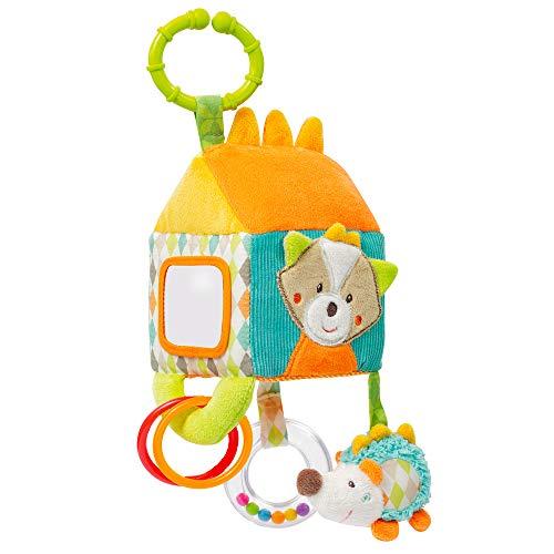 Fehn 071122 Activity-Haus Sleeping Forest - Motorikspielzeug zum Aufhängen - Für Babys und Kleinkinder ab 0+ Monaten - Maße: 13 x 9 cm
