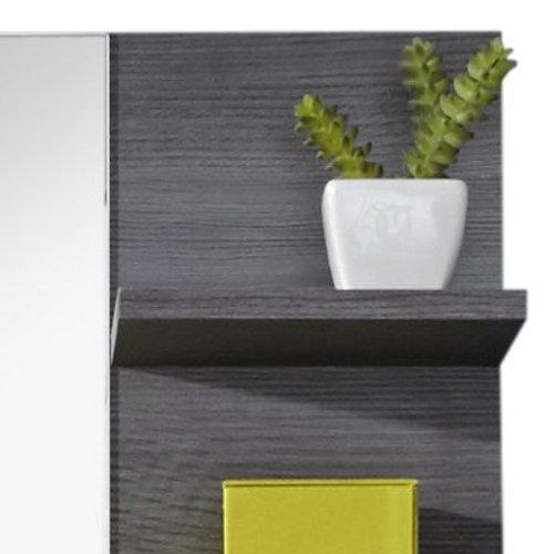 trendteam MI40121 Badezimmerspiegel mit Ablage Rauchsilber Nachbildung, BxHxT 72 x 57 x 17 cm - 4