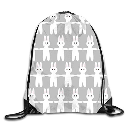 show best Bunny Drawstring Gym Bag for Women and Men Polyester Gym Sack String Backpack for Sport Workout, School, Travel, Books 14.17 X 16.9 inch