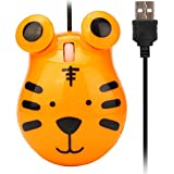 OHQ Souris De Jeu Filaire Animal Mignon 1200 Dpi Usb Optique Pour Pc Ordinateur Portable Gamers Sans Fil Chat Gamer Pas Cher Fils Macbook Air Correctrice Logitech Razer (Jaune)