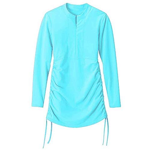 Nowear Frauen Langarm Neoprenanzug Badeanzug Top UV-Sonnenschutz Tauchen Surfen Anzug