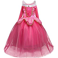 Déguisement de princesse Belle pour filles - Costume d'Halloween pour filles de 4 à 9ans 4y #2