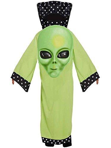 Für Alien Jungen Kostüm - Kinder Grün Riesige Gesicht Alien Marsmensch Kostüm Buchwoche Halloween Kostüm Jungen - Medium Ages 7 -9 Years