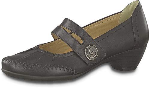 Jana Damen Hochfrontpumps Schwarz 88-24311-23-001 Leder Schuhe, EU 38