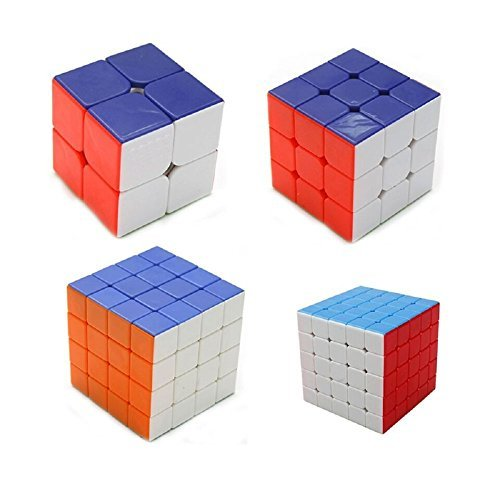 Vortex Toys High Speed Stickerless Magic Rubik Cube Combo Set Of 4 (2x2 , 3x3, 4x4, 5x5) Puzzle Brainstorming Game Toy  available at amazon for Rs.1999