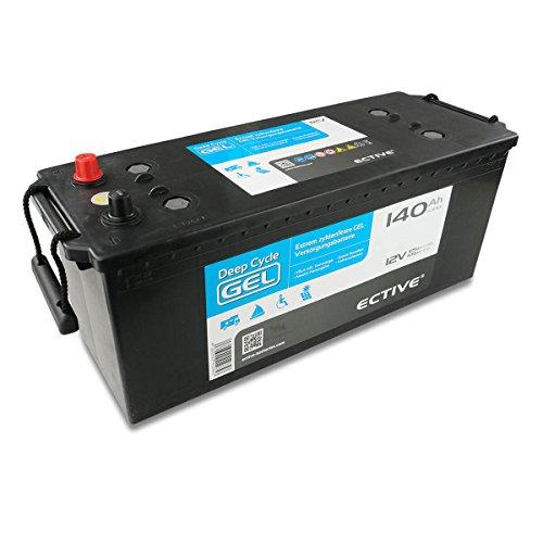 ECTIVE EDC-Serie | 12V 140Ah Gel Batterie | 6 Varianten: 70 - 250Ah | Versorgerbatterie Solarbatterie Gelbatterie wartungsfrei | Wartungsfreier Solar Akku für Wohnwagen USV Boot und Wohnmobil (140 Ah)