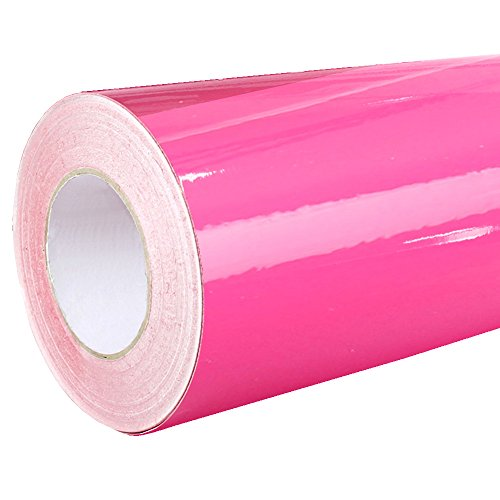 Rapid Teck Glanz Folie - 041 Pink - Klebefolie - 5m x 63cm - Plotterfolie- Folie selbstklebend - auch als Moebelfolie - Klebefolie
