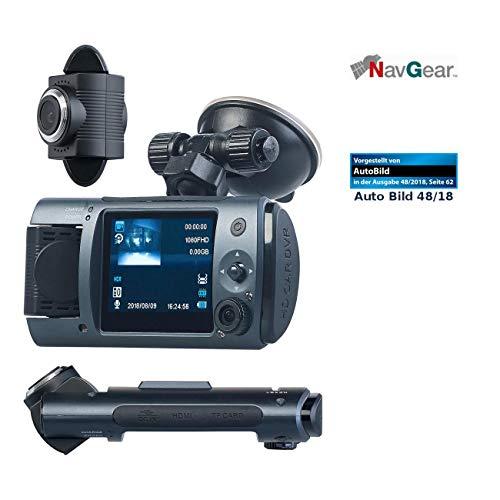 NavGear Dashcam Dual: Full-HD-Dashcam mit 2 Objektiven, 150° Ultra-Weitwinkel, Marken-Sensor (Autokameras) - Dashcam-netzteil