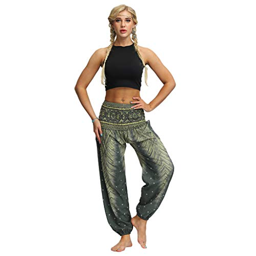 RISTHY Mujer Pantalones Harem Tailandes Hippies Vintage