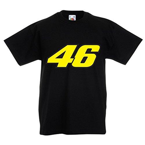N4445K Kinder T-Shirt N46 (3-4 years Schwarz Mehrfarben)