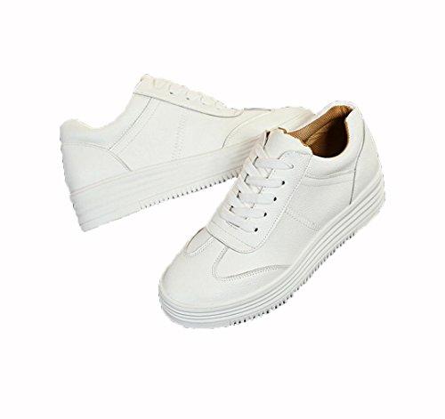 WZG Nouvelles chaussures en dentelle occasionnels chaussures plates  chaussures blanches étudiants glisser chaussures simples ronds à ...