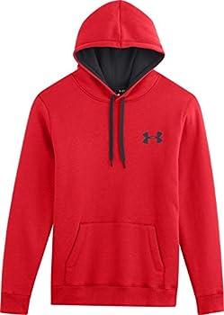 Under Armour Men's Cc Storm Rival Sweatshirt - Risky Redblackblack, Small 5