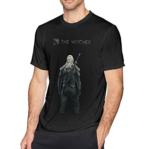 Wuyouhua The Witcher - Camiseta de Manga Corta para Hombre, Color Negro Negro Negro (M