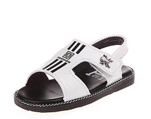 Ohmais Enfants Garçons Chaussure sandale premier pas Escarpin Blanc