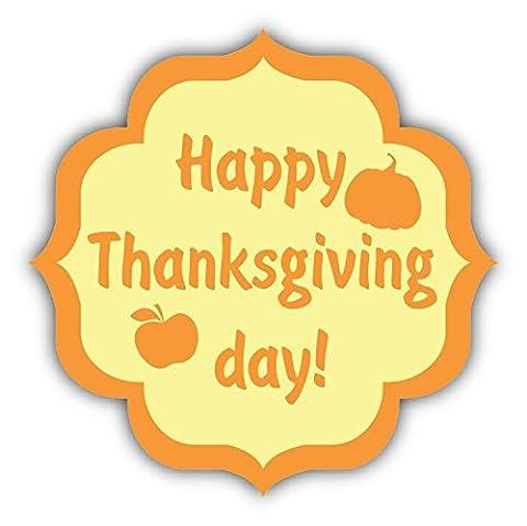 Happy Thanksgiving Day Autumn Pumpkin Apple De Haute Qualite Pare-Chocs