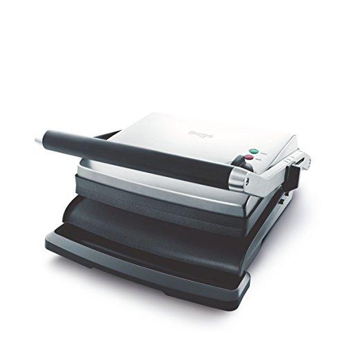 SAGE SGR250 the Adjusta Grill & Press mit antihaftbeschichteten Grillplatten, Gebürstetes Edelstahl, 2200 Watt -