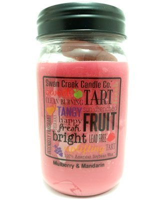 American Swan (Swan Creek 100% American Soybean 24 Oz. Jar Candle - Mulberry & Mandarin by Swan Creek Candle)