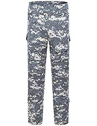4d71b427bc9 YuanDiann Homme Tactique Pantalon De Camouflage Militaire Multi-Poches  Respirant Imperméable Armée Battle Trekking Chasse