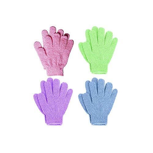4pairs Peeling Badhandschuhe Ganzkörperpeeling Dusche Handschuhe Spa Peeling Zubehör Scrubs Auswärts Toten Zellen für weiche Haut & verbessert die Blutzirkulation - Juckende Haut Badewanne