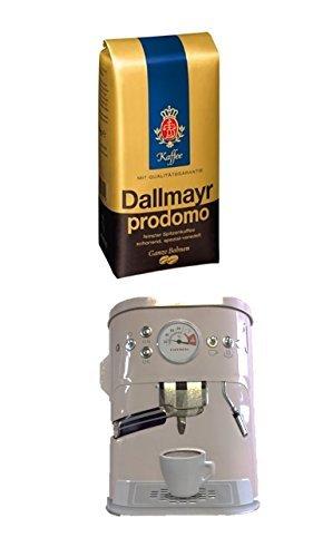 Dallmayr Prodomo ganze Bohnen 500g + Kaffeedose neu 3 D Design weiß