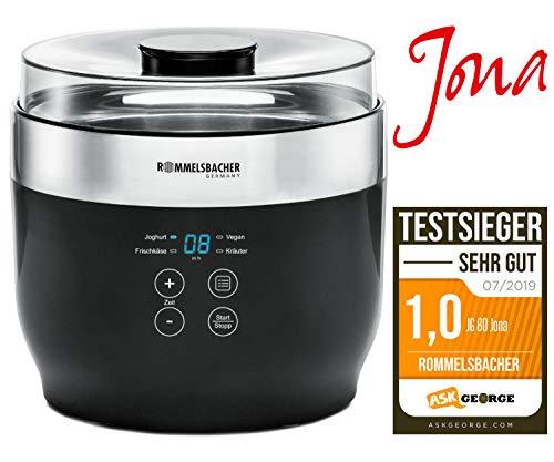 """ROMMELSBACHER Joghurt- und Frischkäsebereiter JG 80 \""""Jona\"""", inkl. 4 Keramik Portionsbecher à 125 ml, 2 XXL Glasbehälter à 1,2 Liter, 4 voreingestellte Programme mit unterschiedlichen Temperaturen"""