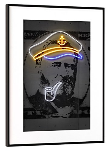 artboxONE Poster mit Rahmen Schwarz (Metallic) 30x20 cm Grant von Octavian Mielu - gerahmtes Poster
