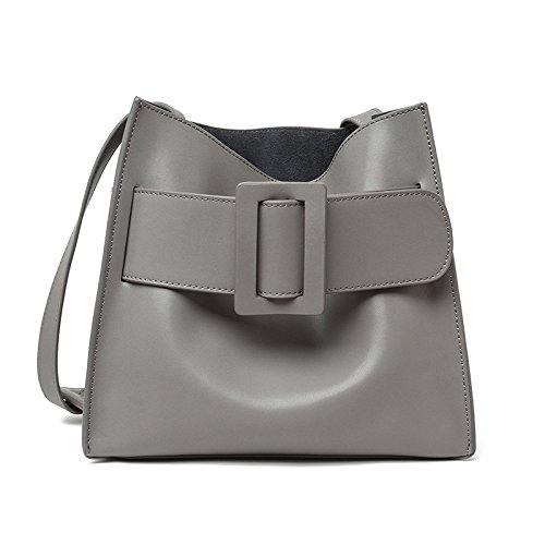 Mefly Die Neuen Leder Handtasche Damen Tasche Einfach gray