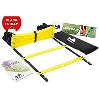 Reehut Échelle d'agilité de Rythme de Coordination Entraînement Ladder Drills Modulable pour Le Sport, Football, Course, Tennis, Arts Martiaux
