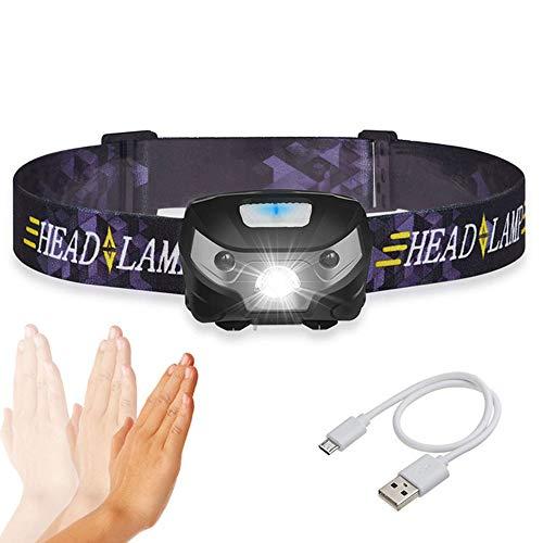 HMJZ Intelligente Sensor-Scheinwerfer USB-Aufladung T6 Blendung Outdoor Wasserdichte Angeln Köder Lichter LED Infrarot-Mini-Scheinwerfer