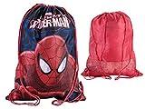 Marvel Spiderman Drawstring Trainer / Gym / PE / Shoe / Swim School Bag Childrens Kids boys 600016