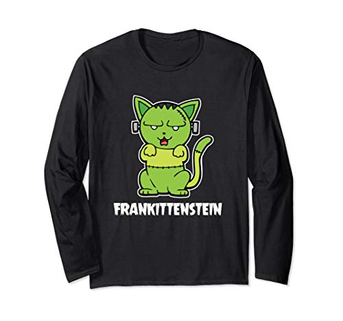 Katze Monster Kostüm - Frankittenstein Katze Mietz Fantasy-Monster Halloween Kostüm Langarmshirt