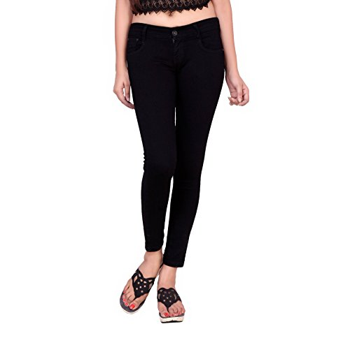 Airways-Slim-Fit-Stretchable-Mid-Waist-Black-Ankle-Jeans-for-Women