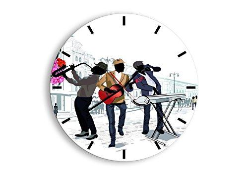 Horloge Murale - Ronde - Horloge en Verre - Pendule murales - 50x50cm - 2933 - Mécanisme d'écoulement - Silencieux - prete a Suspendre - Moderne - Décoration - Pret a accrocher - C3AR50x50-2933