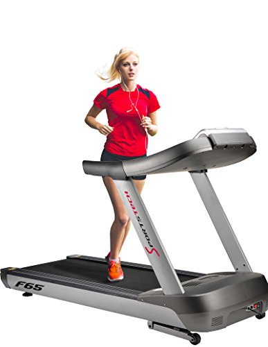 Sportstech F65 professional treadmill with 7 inch display 8.5 HP 25km/h extra large 1600x600mm running surface HRC function 109 training programs