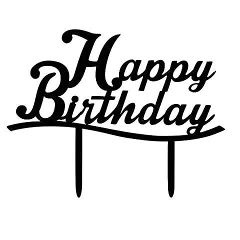 Befaith Acrylique Happy Birthday Cake Topper Cupcake Stand pour Décoration de fête d'anniversaire