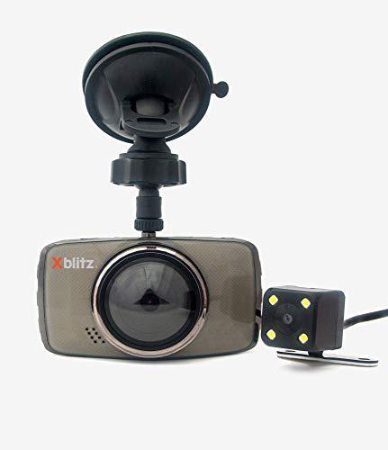 Xblitz Dual Core, Dual Autokamera, Glasfront: 170°, Sensor OV2710, Allwinner V3S, Die vordere Kamera Full HD-Auflösung, die hintere Schwarz/Gold