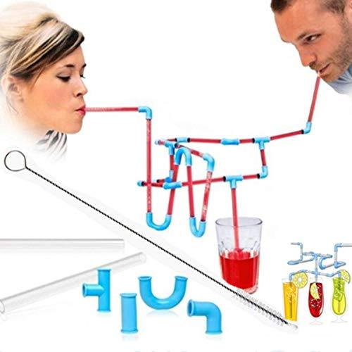 DIY Strohhalme für Kinder, zum Spielen von Spielen, Trinkhalme, Trinkhalme für kreatives und lustiges Trinkspiel, zufällige Farbe mit 2 Reinigungsbürsten - Kostenlose Süchtig Spiele